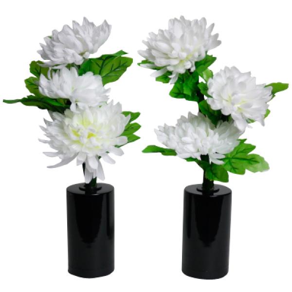 ミニルミナスコードレス 白菊の舞 1対(LED使用)【モダン小型灯・盆提灯/ちょうちん】【HLS_DU】