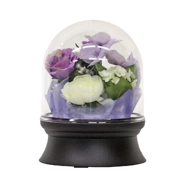 【小型灯・盆提灯/ちょうちん】フラワードーム 1号 紫 1つ 0253【HLS_DU】
