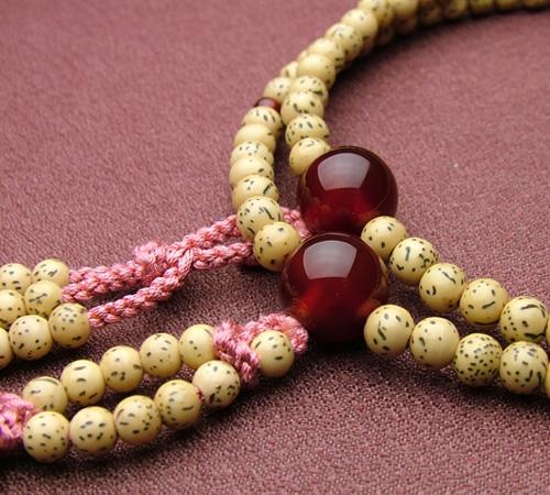 【日蓮宗[女性用]】星月菩提 瑪瑙仕立 8寸【数珠/念珠/本式念珠】【#2】【HLS_DU】