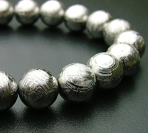 【一品物シリーズ・腕輪/ブレス】ギべオン隕石 10ミリ【#2】【HLS_DU】