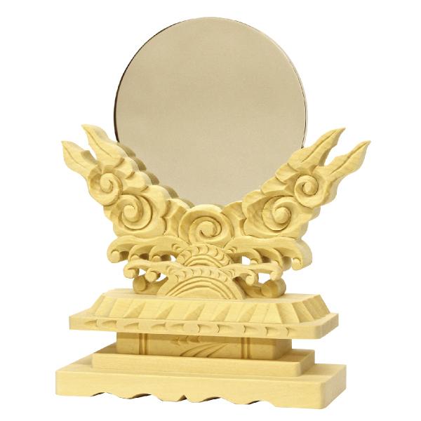 【神具】御神鏡(木製)2.5《上》【#2】【HLS_DU】