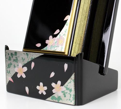 蒔絵過去帳セット3.0(散桜)【過去帳・位牌】【#2】【HLS_DU】