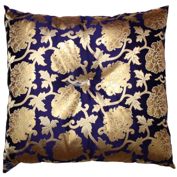 【仏前・御前座布団(高級正絹製)】牡丹(紫)【#2】【HLS_DU】