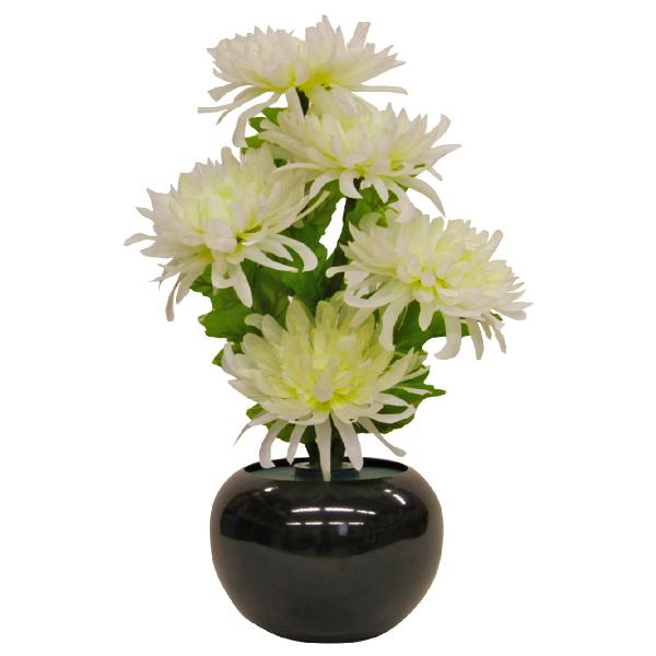 グランドルミナス 白菊の舞 1つ(LED使用)【モダン小型灯・盆提灯/ちょうちん】【#2】【HLS_DU】