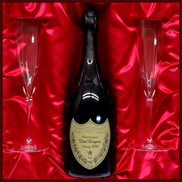 結婚祝いに バカラ名入れペアシャンパングラス & ドン・ペリニョン(ドンペリ)2009 750ml ギフト