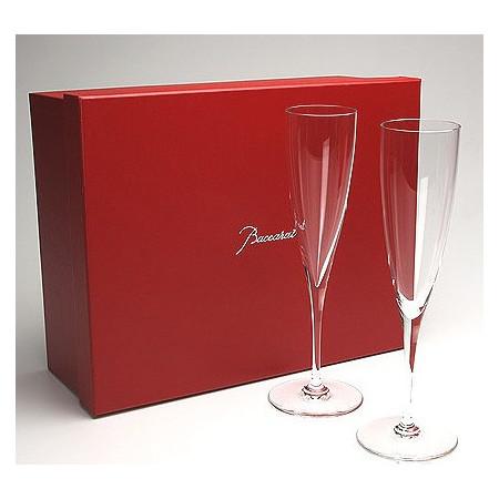 名前入れプレゼント バカラ(Baccarat) ドンペリニヨン  シャンパンフルート グラスペア