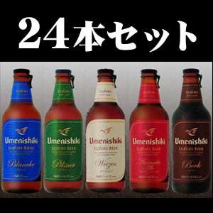 【愛媛地ビール】梅錦ビール お好きな組み合わせで24本セット 【専用箱入り】