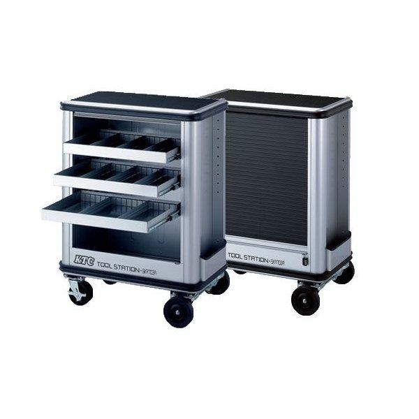 [メーカー直送品] KTC ツールステーション シャッター付き3段可動トレイタイプ SKR703A