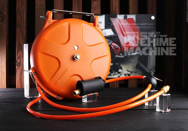 [新発売] 限定カラー 三協リール エアーホースリール 10m カプラ付 SHS-210A-OR オレンジボディ/オレンジホース