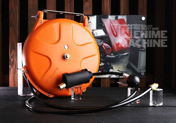 [新発売] 限定カラー 三協リール エアーホースリール 10m カプラ付 SHS-210BA-OR オレンジボディ/ブラックホース