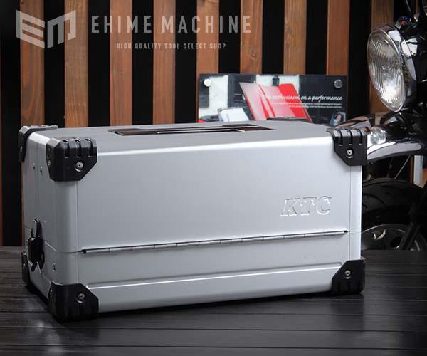 在庫少 KTC 両開きメタルケース メタリックシルバー EK-10A 工具箱