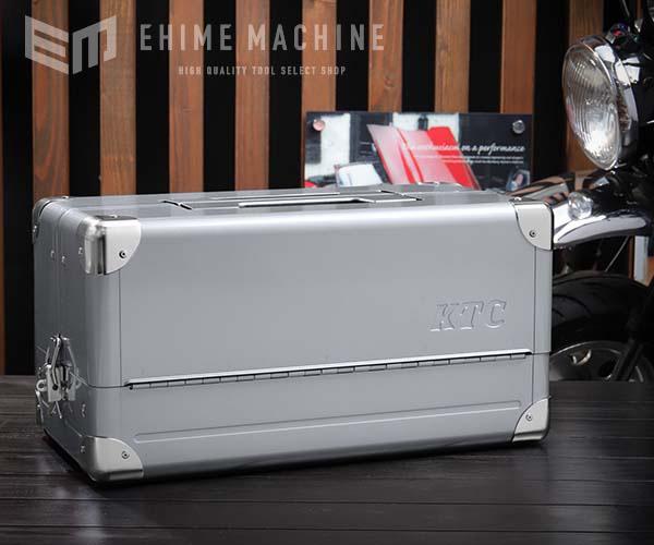 在庫少 KTC 両開きメタルケース メタリックシルバー EK-1A 工具箱