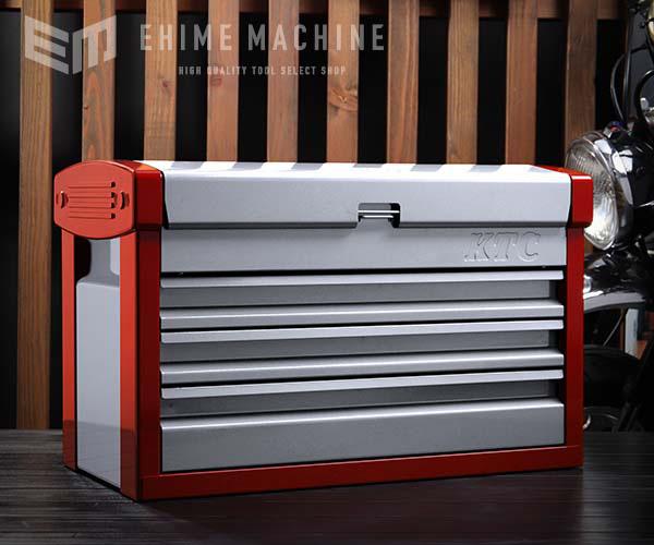 在庫有 KTC ツールチェスト EKR-103 シルバー×レッド ツールケース 工具箱