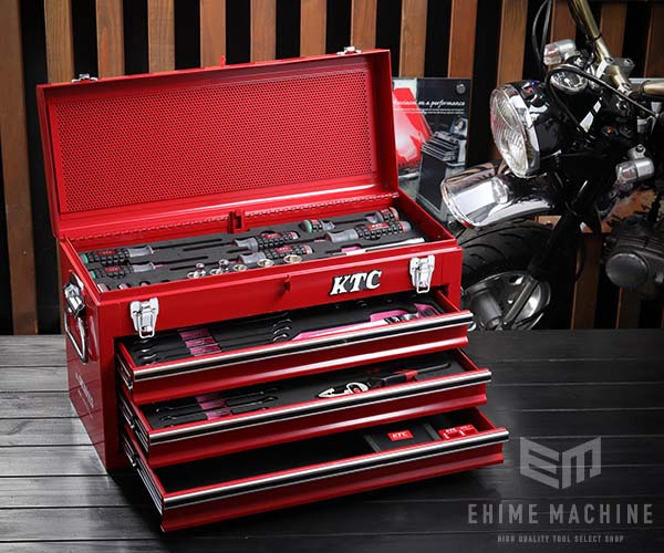 在庫少 KTC 9.5sq. 53点工具セット SK35320X(豪華特典付)レッド 新設計トレイ採用ツールセット SKX0213 採用モデル