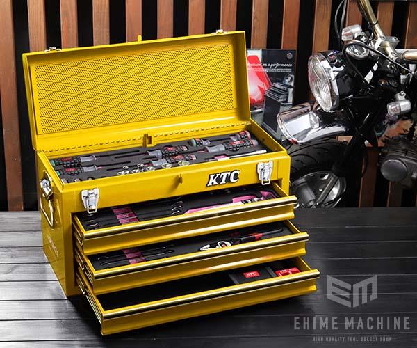 在庫少 KTC 9.5sq. 53点工具セット SK35320XY(豪華特典付)イエロー 新設計トレイ採用ツールセット SKX0213Y2 採用モデル