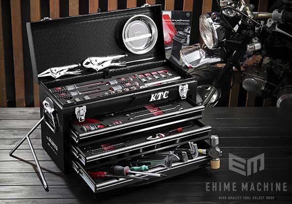 在庫少 KTC 9.5sq. 56点工具セット SK35620XBKMC(特典付)ブラック モーターサイクルツールセット SKX0213BK 採用モデル
