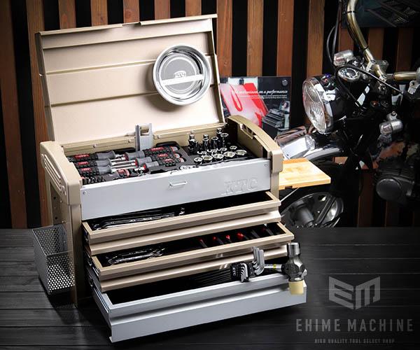 【KTC】 9.5sq. 68点工具セット SK36820ECG(豪華特典付)シャンパンゴールド×シルバー スタンダードツールセット EKR-103CG 採用モデル