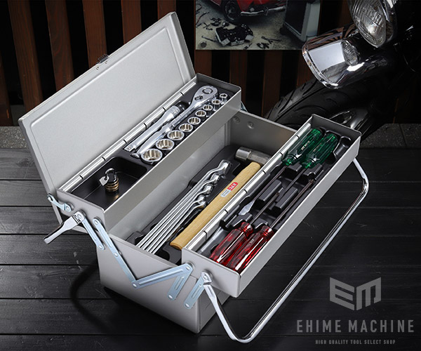 【KTC】 12.7sq. 43点工具セット SK44320M(特典付)シルバー 一般機械整備用ツールセット SKC-MA 採用モデル