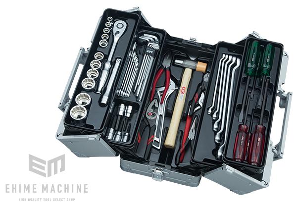 【KTC】 12.7sq. 51点工具セット SK45120WM(特典付)メタリックシルバー 一般機械整備用ツールセット EK-1A 採用モデル