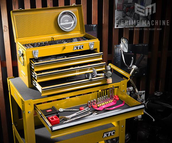 在庫有 KTC 6.3sq./9.5sq. 96点工具セットツールワゴン付 SK59620XXYEM(特典付)イエロー プロフェッショナルモデル SKX0213Y2/SKX2613Y2 採用モデル