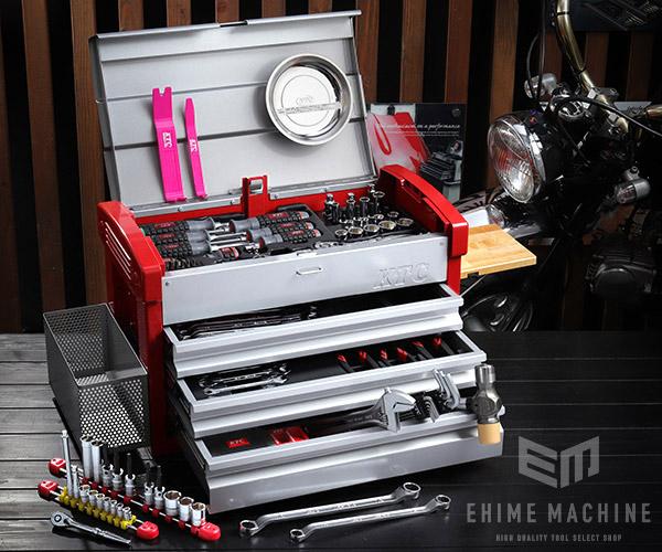 在庫有 KTC 6.3sq./9.5sq. 97点工具セット SK59720E(豪華特典付)シルバー×レッド プロフェッショナルモデル EKR-103 採用モデル