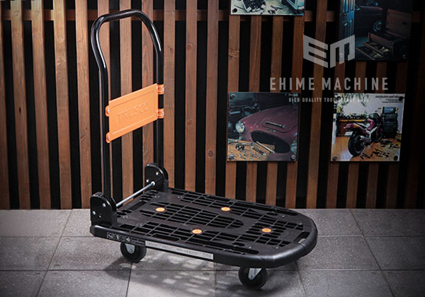 [新掲載商品] TRUSCO MPK-720-BK 樹脂台車 カルティオ 折畳 長さ780mm×幅490mm 黒 トラスコ