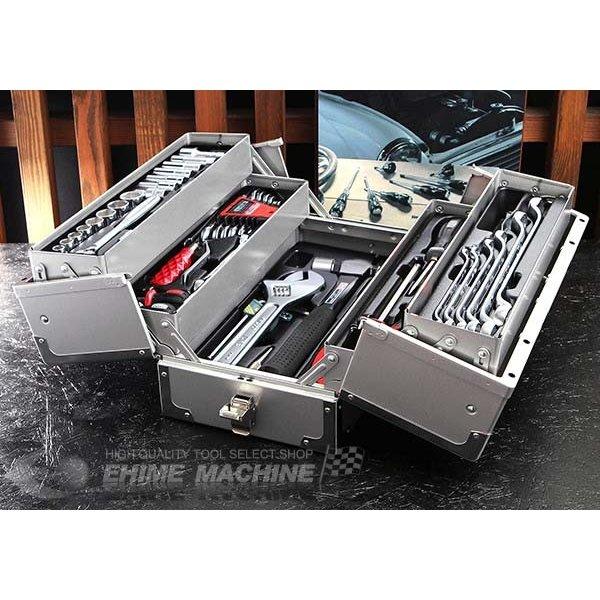 [メーカー直送品]TONE トネ 工具セット 9.5sq. 61点ツールセット シルバー TSA3331SV