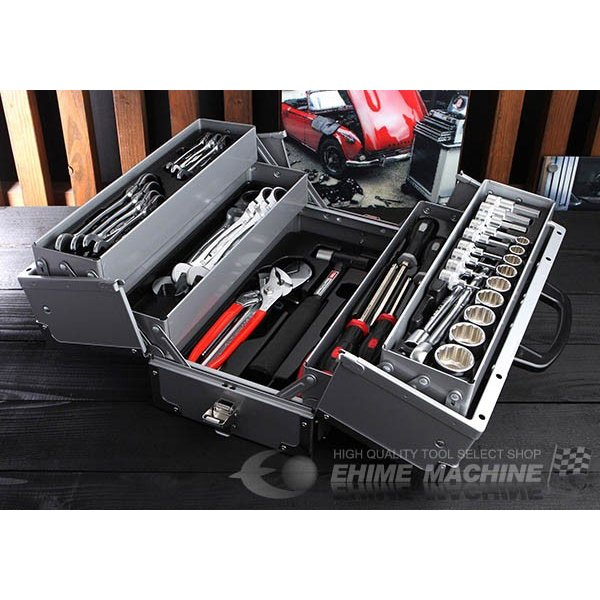 [メーカー直送品]TONE トネ 工具セット 12.7sq. 52点 ツールセット シルバー TSH430SV