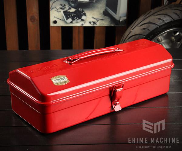 TRUSCO Y-350-R Seasonal Wrap入荷 山型工具箱 優先配送 レッド トラスコ 赤 373×164×124mm