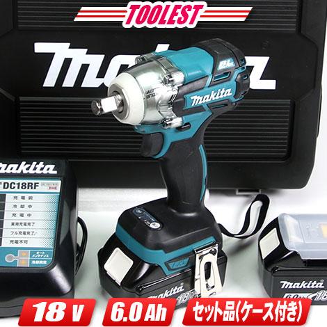 マキタ 18V インパクトレンチ TW285 6.0Ah充電池(BL1860B)2個 充電器 ケース付