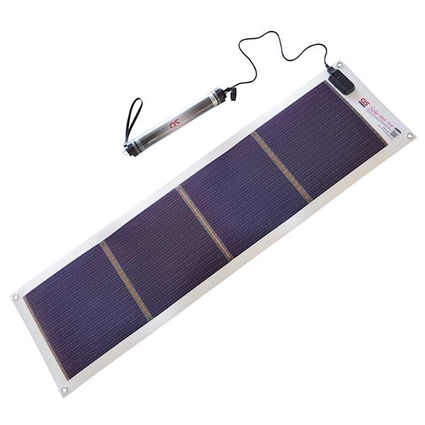 日本製 10.8W ソーラーシートチャージャー + 5200mAh LEDライト付 防水チャージャー セット GN-100B1