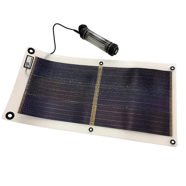 日本製 ソーラー充電器 スマホ「4.2W ソーラーシート + 2600mAh 防水チャージャー/LEDライト付」 コンパクトソーラー GT-100