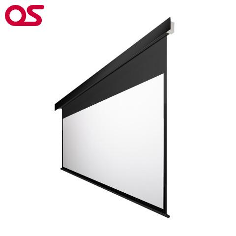 100インチ 電動 スクリーン フルHD対応(ピュアマット204) OS オーエス EP-100HM-MRK1/MRW1-WF204(黒/白パネル)