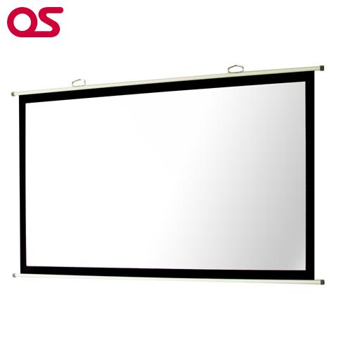 OSスクリーン【壁掛け】プロジェクタースクリーン OS オーエス 100インチ 掛図(マスク付き) SMH-100HM