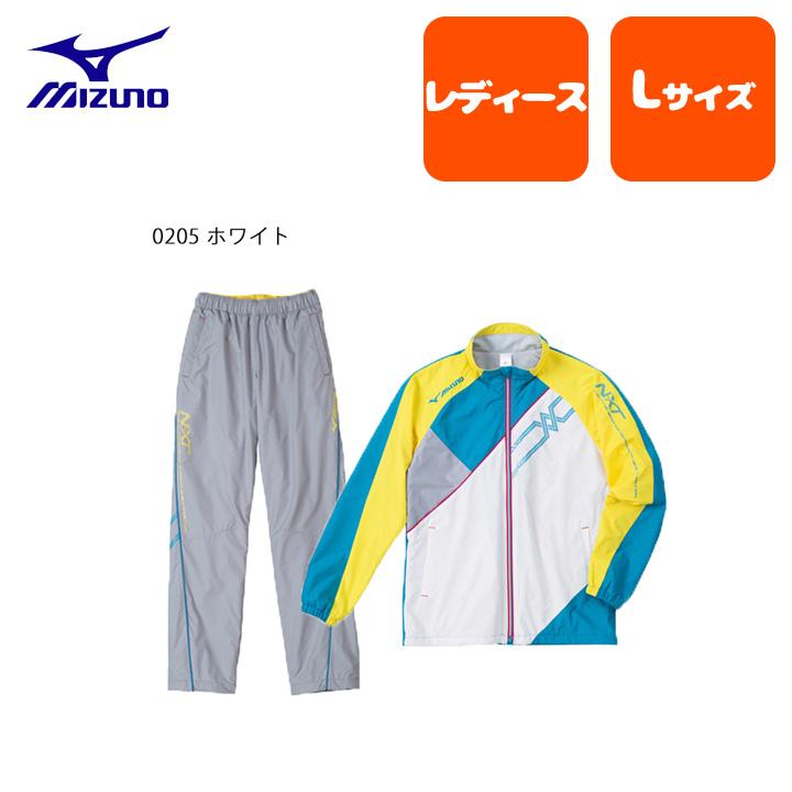 【ラスト1点】mizuno (ミズノ) ウィンドブレーカー レディース 上下セット テニス サッカー バトミントン バレーボール ランニング フィットネス 吸汗速乾 裏毛 ポリエステル100% 32je4731jf4731set (SSS)