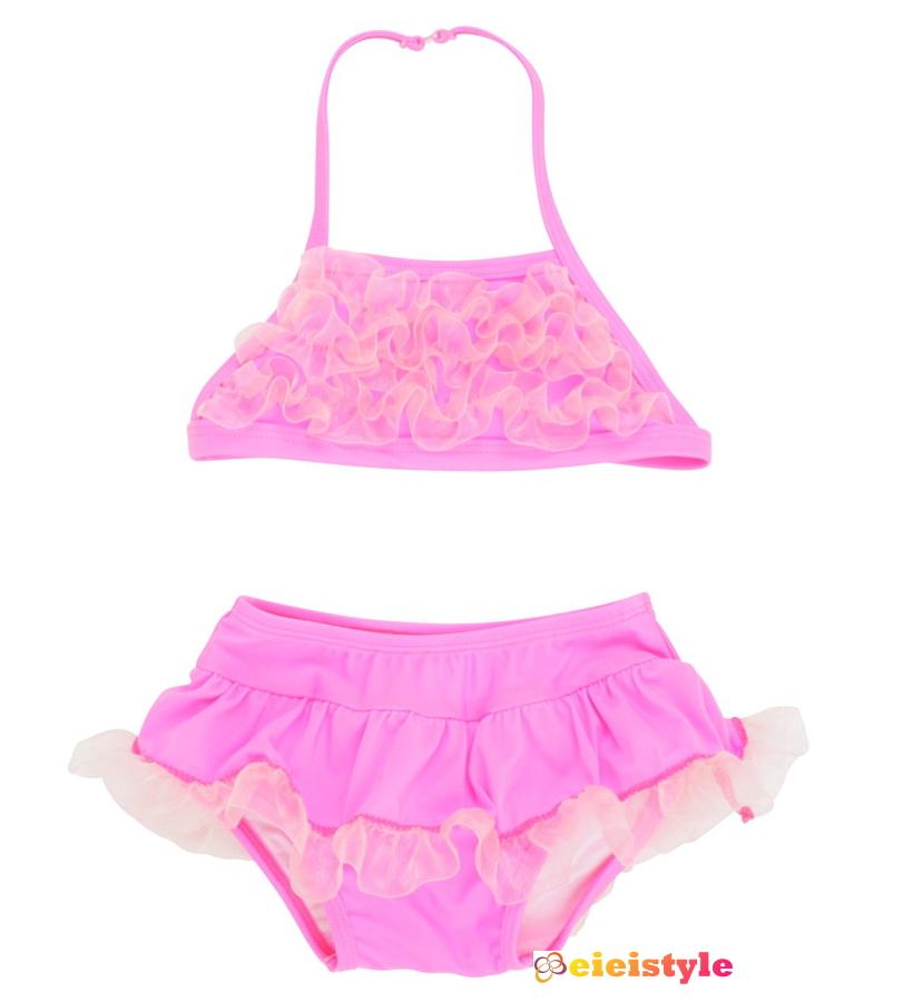 2cf56e271fee4 Raffle bats Ruffle Butts baby swimwear kids swimwear kids swimwear bikini  swimsuit girls swimwear Hot Pink