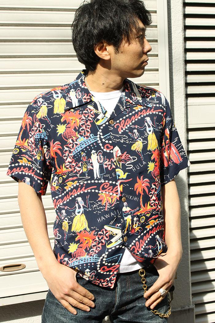 """太阳冲浪SUN SURF夏威夷衬衫夏威夷人衬衫收集夏威夷科尔斯[SS37474] """"HAWAII CALLS""""夏威夷科尔斯KILOHANA[EARLY 1950s][2017年龄]"""