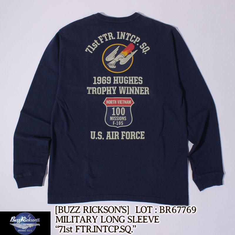 ★感謝祭最終日!P大還元★ 残り1点! BUZZ RICKSON'S 長袖Tシャツ L/S T-SHIRT