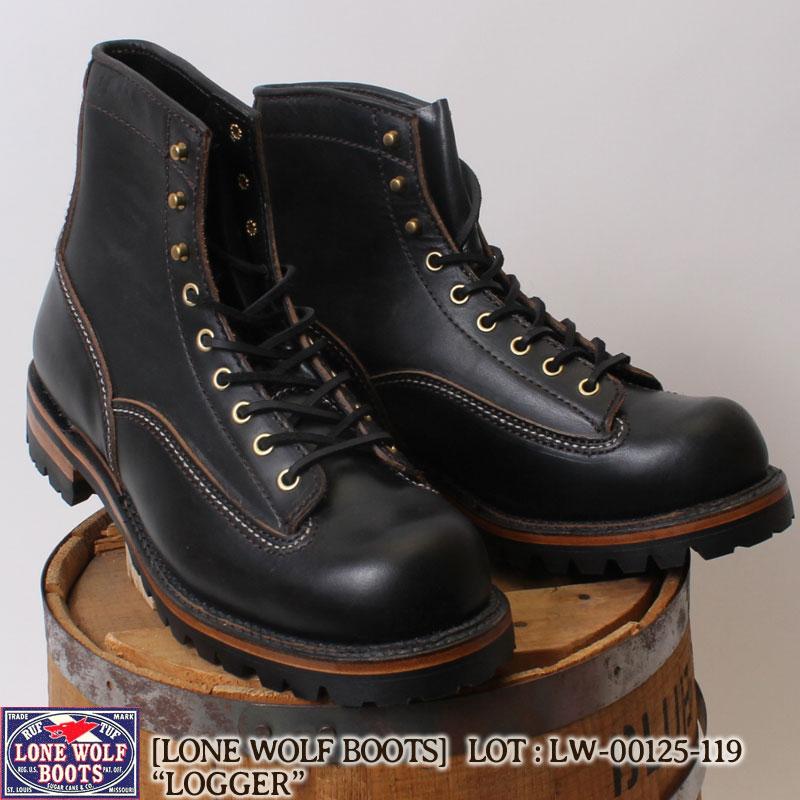 \20日はポイント最大級/ ロンウルフ LONE WOLF BOOTS ブーツ ビブラムソール仕様 LOGGER ロガー メンズ LW00125-119