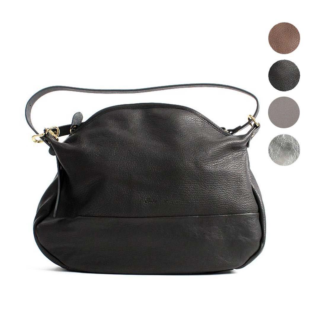 Ense(アンサ) shoulder L / ジッパー付き 2way レザーショルダーバッグ L GL-605F - 全2色【送料無料】バッグ ショルダーバッグ 羊革 本革 ギフト プレゼント 女性