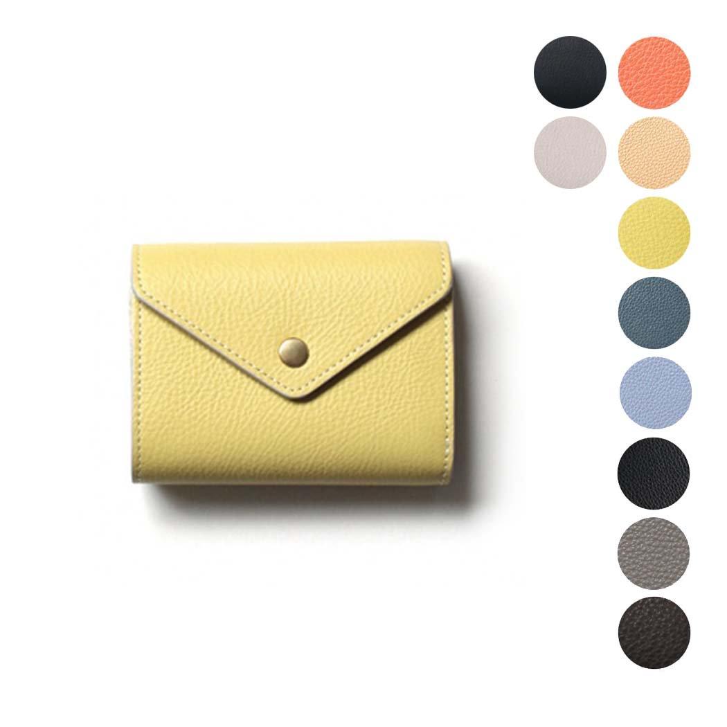 Ense(アンサ) / wallet 二つ折り レザー ウォレット ew107 - 全8色■ブラック ブラウン キャメル ネイビー グレー イエロー ブルー オレンジ【送料無料】