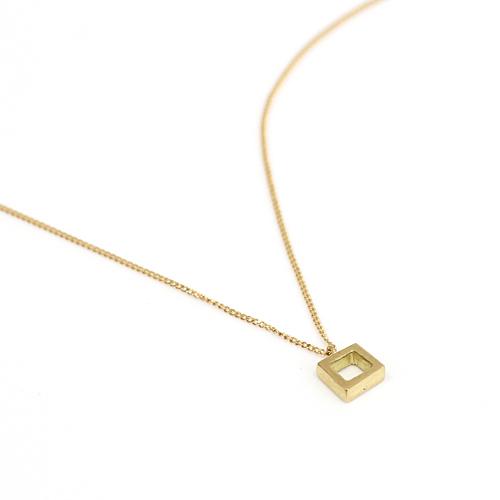 18金 ネックレスEnse(アンサ) k18 kna03 四角ネックレス 市場