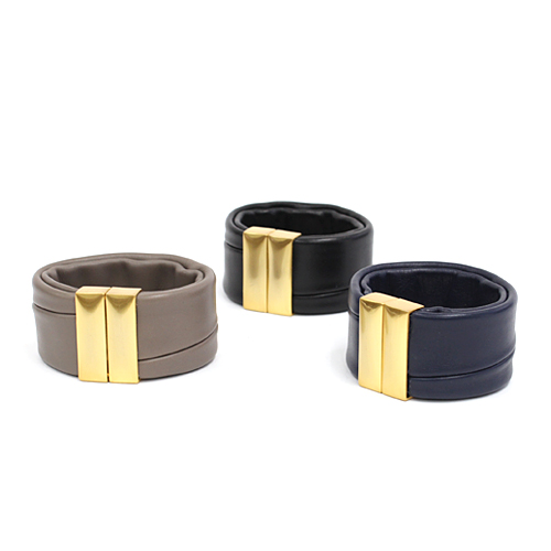 Ense(アンサ)lp-05g レザー バングル スムースG/全3色 市場