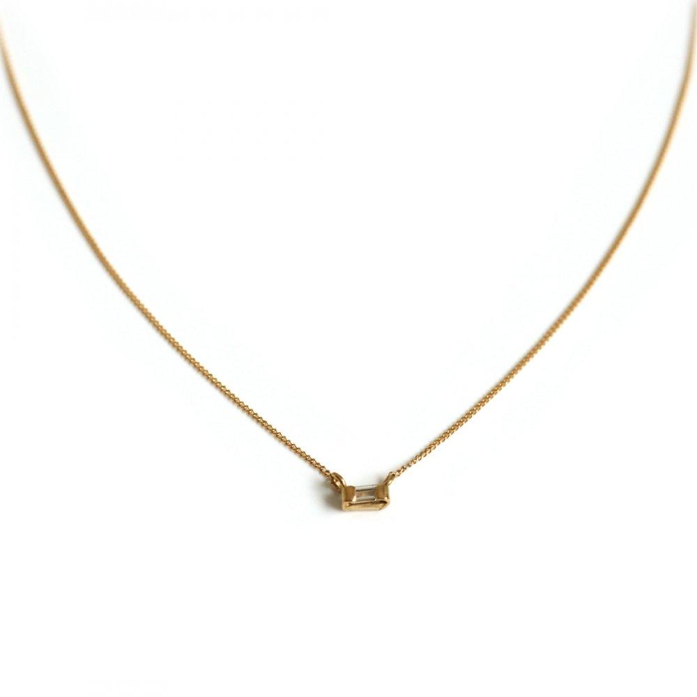 18金 ネックレス hirondelle(イロンデール)k18 hn-10w-283 バゲットダイヤネックレス【送料無料】 市場