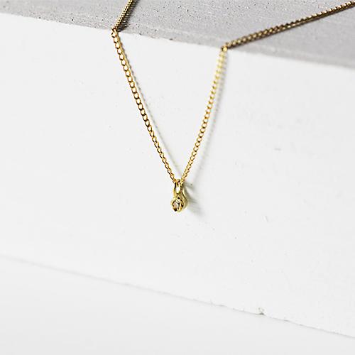 18金 ネックレス hirondelle(イロンデール)k18 hn-322プチダイヤネックレス【送料無料】