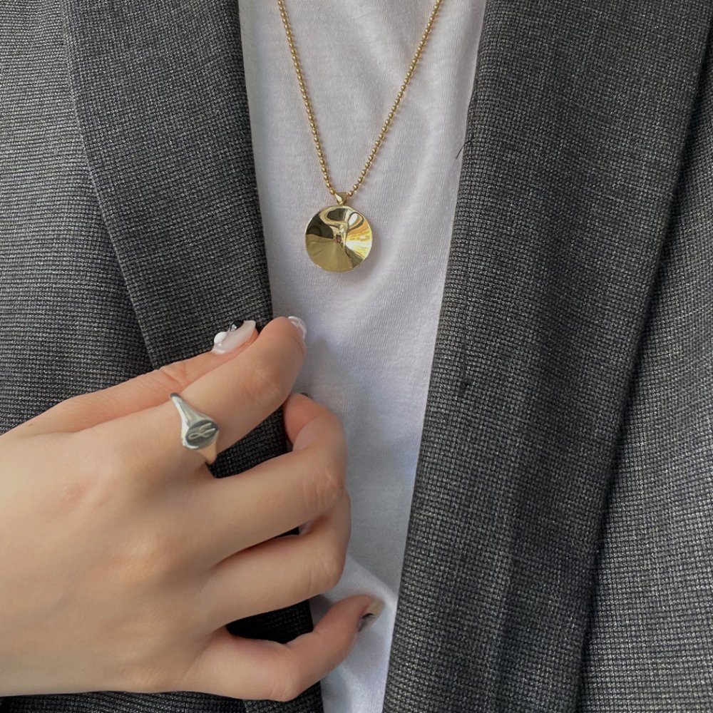 hirondelle et pepin(イロンデール エ ペパン) silver sr-19fw-45 シルバー ラウンドシグネットリング■刻印 指輪 プレゼント ギフト シンプル 女性 ハンドメイド 誕生日プレゼント プレゼント