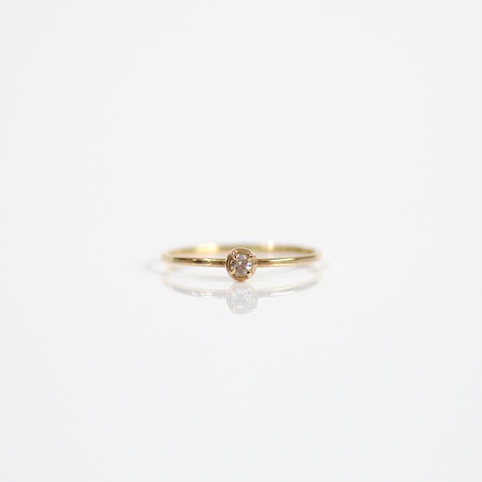 hirondelle et pepin(イロンデール エ ペパン) k18 hr-19ss-538 4つ爪 ローズカットダイヤ リング【送料無料】クリスマスプレゼント 女性 指輪 ギフト 18金 18k 華奢 華やか シンプル ダイヤモンド 誕生日