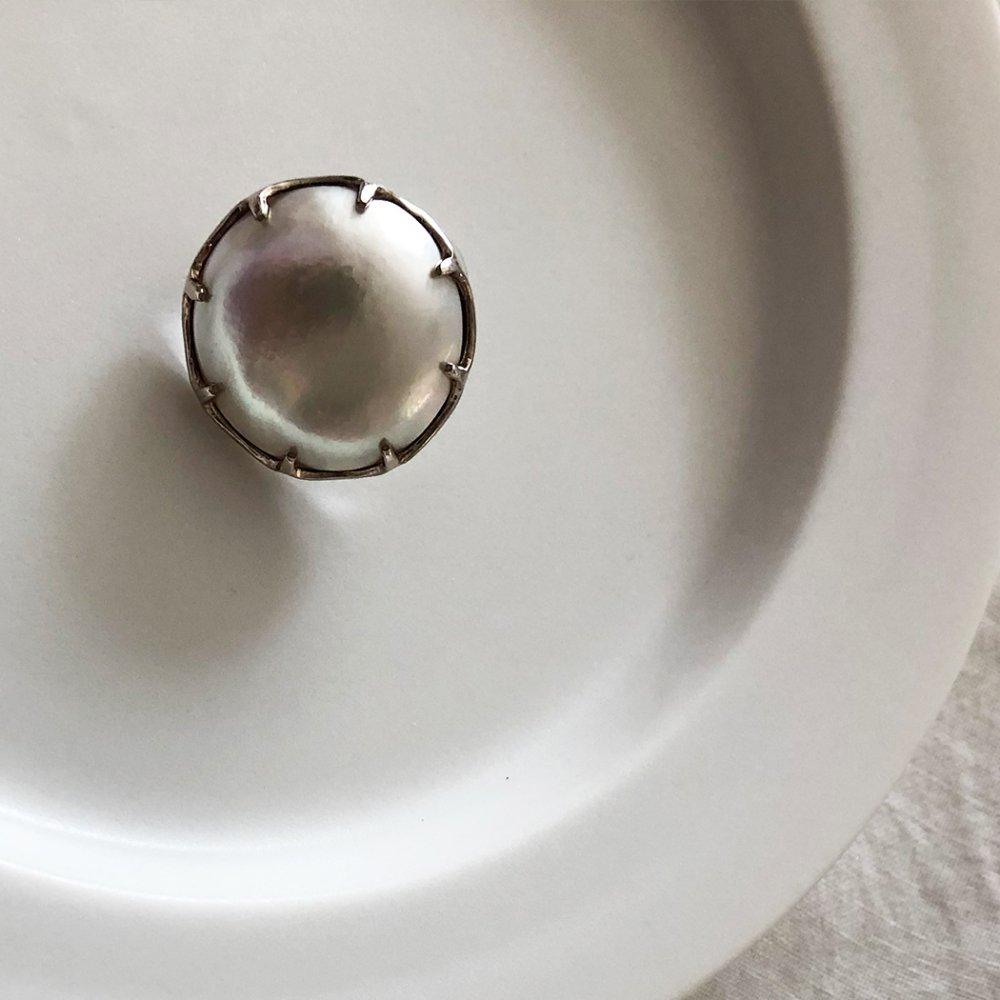 hirondelle et pepin(イロンデール エ ペパン) silver sp-19ss-18 シルバー マベパール ピアス (片方タイプ)【送料無料】片耳ピアス ピアス 真珠 パール ジュエリー シンプル 結婚式アクセ プレゼント ギフトに