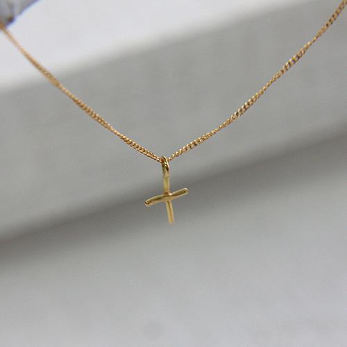 18金 ネックレス hirondelle(イロンデール)k18 hn-8-8-184 クロスネックレス【送料無料】 市場