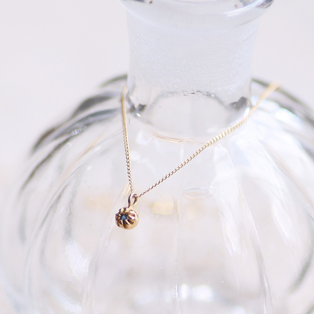 18金 ネックレス hirondelle(イロンデール)k18 hn-438 ssシャトン ネックレス/サファイヤ【送料無料】 市場